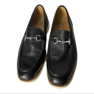 Cole Haan Black Leather Horsebit Loafers Size 10